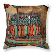 Norman Soldiers 11th Century Throw Pillow