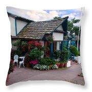 Normandy Inn - Carmel California Throw Pillow by Glenn McCarthy Art and Photography