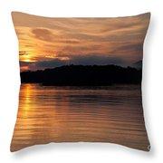 Norris Lake Sunrise Throw Pillow