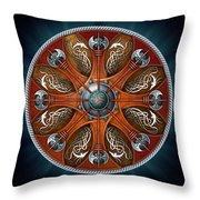 Norse Aegishjalmur Shield Throw Pillow by Richard Barnes