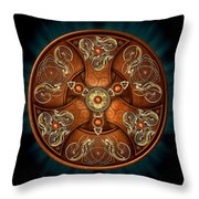 Norse Chieftain's Shield Throw Pillow