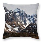 Norse Spring Mountains Throw Pillow
