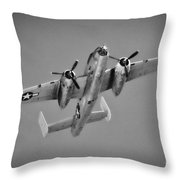 North American B-25j Bw Throw Pillow