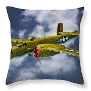 North American B-25j Throw Pillow