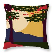 North American Landscape Throw Pillow
