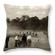 North And South Throw Pillow
