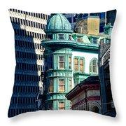 North Beach Victorian - San Francisco Throw Pillow