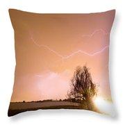 North Boulder County Colorado Lightning Strike Throw Pillow