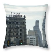 North Broad Street Throw Pillow