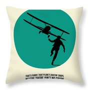 North By Northwest Poster 1 Throw Pillow by Naxart Studio