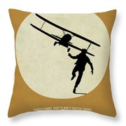 North By Northwest Poster Throw Pillow by Naxart Studio