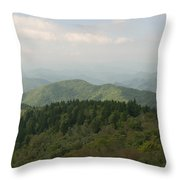 North Carolina Blue Ridge Mountains Throw Pillow