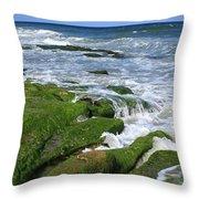 North Carolina Coastal Rocks Throw Pillow