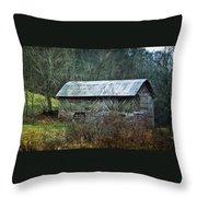 North Carolina Country Barn Throw Pillow