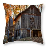 North Carolina Grist Mill Photo Throw Pillow