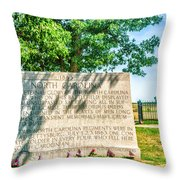 North Carolina Memorial Gettysburg Battleground Throw Pillow