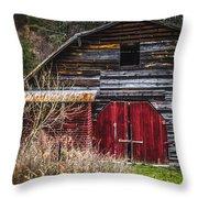 North Carolina Red Door Barn Throw Pillow