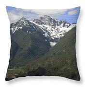 North Cascades Landscape Throw Pillow