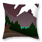 North Cascades National Park Vintage Poster Throw Pillow