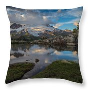 North Cascades Tarn Reflection Throw Pillow