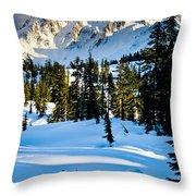 North Cascades Winter Throw Pillow