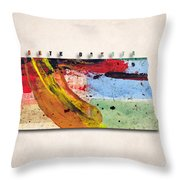 North Dakota Map Art - Painted Map Of North Dakota Throw Pillow