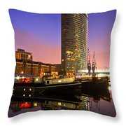 North Dock In Canary Wharf. Throw Pillow