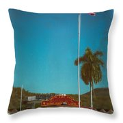 North East Gate Throw Pillow