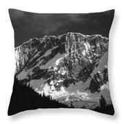 1m2616-bw-north Face Mt. Bonney  Throw Pillow