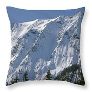1m4443-north Face Of Big Four Mountain Throw Pillow