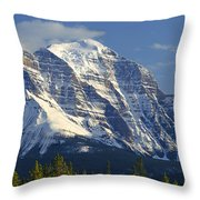1m3549-north Face Of Mt. Temple Throw Pillow