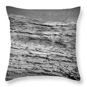 North Fork Of The Flathead River Montana Bw Throw Pillow
