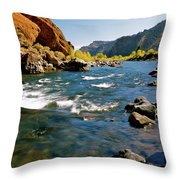 North Fork Of The Shoshone River Throw Pillow