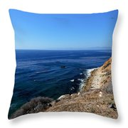 North From Palos Verdes Throw Pillow