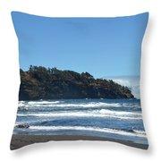 North Kona Coastline 1 Throw Pillow