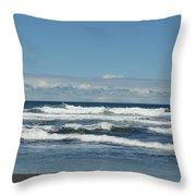 North Kona Coastline 3 Throw Pillow
