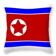 North Korea Flag Throw Pillow