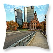 North Main Street 3 Throw Pillow