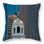 North Meeting Place And Echange Place Throw Pillow