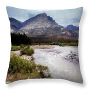 North Of Dubois Throw Pillow