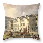 North Parade, From Bath Illustrated Throw Pillow