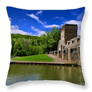 North Park Boathouse In Hdr Throw Pillow