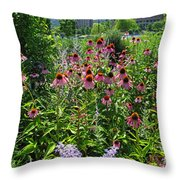 North Point Park Flowers Throw Pillow