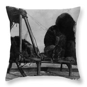 North Pole Sewing, C1909 Throw Pillow
