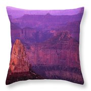 North Rim Grand Canyon Throw Pillow