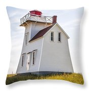 North Rustico Lighthouse Throw Pillow