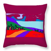 North Saanich Field And Inlet Throw Pillow