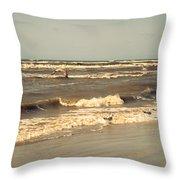 North Sea Coastal Line 1. Holland Throw Pillow