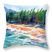 North Shore Beach 2 Throw Pillow