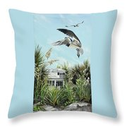 North Shore Landing Throw Pillow